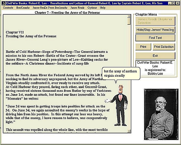 Click to view Civil War Books: Robert E. Lee 1.0 screenshot